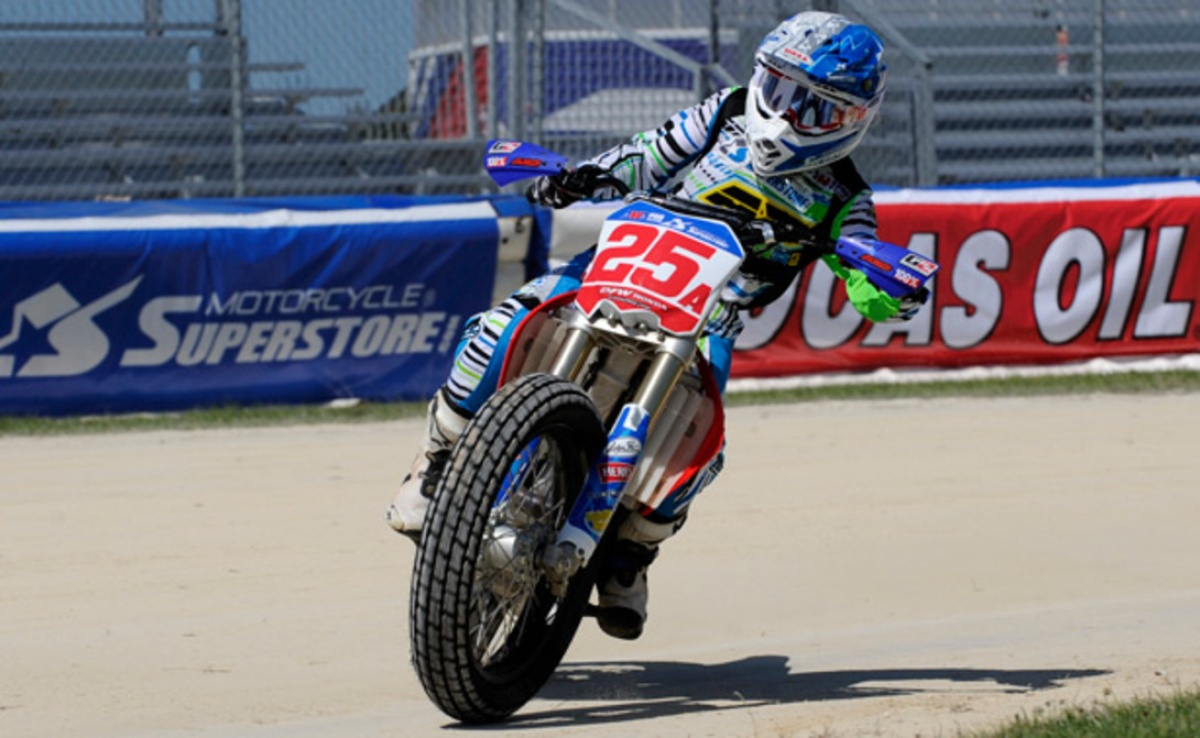 american flat track news - shayna texter teams up with dfw honda